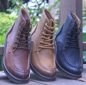 High Quality Fashion Men′s Leather Boots Ankle Men Boots (AKPX32) pictures & photos