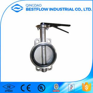 Cast Steel Wafer Butterfly Valve pictures & photos
