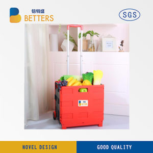 Large Size Plastic Shopping Folding Basket pictures & photos