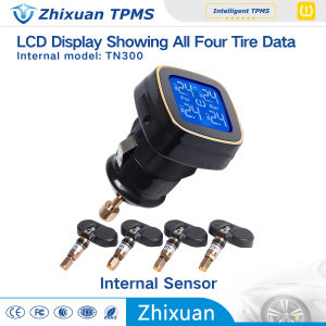 TPMS Car Wireless Tire Pressure Monitoring System LCD Display 4 Internal Sensors Cigarette Lighte pictures & photos