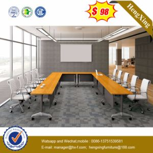 Melamine Office Furniture Conference Meeting Table with Metal Legs (HX-CF006) pictures & photos