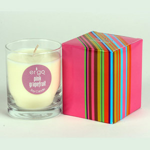 Scented Soy Decorative Glass Candle