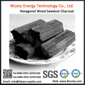 Long Burning Time Hexagonal Sawdust Charcoal for BBQ pictures & photos