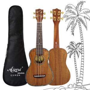 Aiersi Abalone High Grade Hawaii Koa Soprano Ukulele pictures & photos