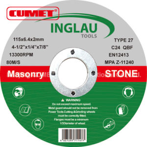 Depressed Center Cutting Disc for Stone pictures & photos