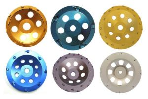Gushi Professional Concrete PCD Grinding Cup Wheel pictures & photos