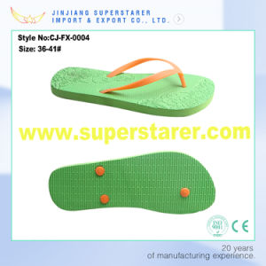 Cheap Anti-Slip PE Flip Flop for Women pictures & photos