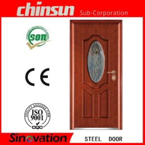 Steel Security Door with Glass (SV-S058) pictures & photos