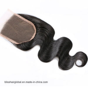 Bliss Hair 4X4 Lace Closure Three/Free/Middle Part Top Swiss Lace Closure Body Wave Indian Virgin Human Hair Closures Pieces pictures & photos