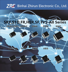 2A Es2a Thru Es2j Super Fast Recovery Rectifier Diode SMB/Do-214AA Package pictures & photos