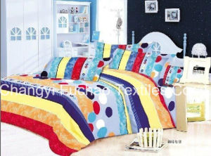 Colorful Flower Pattern Bamboo Microfiber Plain Dyed Cheap Bed Sheet Set Bedding Set Home Textile pictures & photos