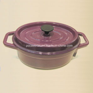 Oval Enamel Cast Iron Casserole Manufacturer From China Size 30X25cm pictures & photos