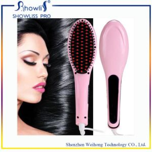 Factory Private Label LCD Display Automatic Hair Straightener Brush