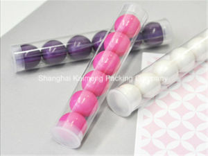 China Factory Supply Plain Pet Plastic Packaging Tube with 2 Caps (packaging tube) pictures & photos