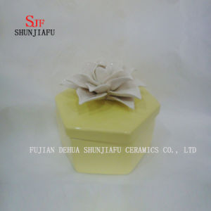 Yellow New Handmade Round White Flower Jewelry Box pictures & photos