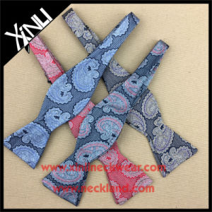 100% Silk Woven Paisley Self Tie Bow Ties for Men pictures & photos