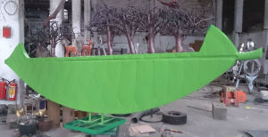 Green Forest on The Boat, Outdoor Decorative Metal Sculpture Garden, Cultural Square, Sculpture pictures & photos