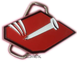Belt Buckle Made in Zinc Alloy, Antique Nickel. Soft Enamel