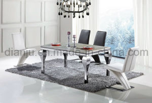 Dining Room Set Stainless Steel Marble Dining Table (A8016) pictures & photos