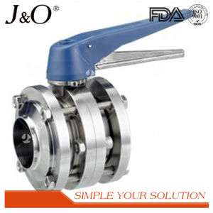 Sanitary Weld Butterfly Valve with Plastic Handle pictures & photos