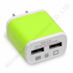 Kl-04 Full 2 a Flower Stripe Two USB Charger pictures & photos