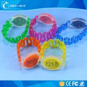 Em4100/4102/4200 RFID Bracelet Tag with Water Parks, Theme Parks pictures & photos