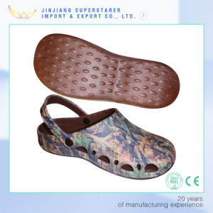 Fashion EVA Clogs Shoes Women with Upper Printing Pictures pictures & photos