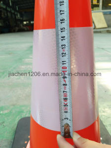 Reasonable Price PVC 450mm Traffic Cone with Rubber Base pictures & photos