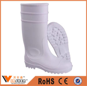 White Color PVC Rubber Working Safety Rain Boots pictures & photos