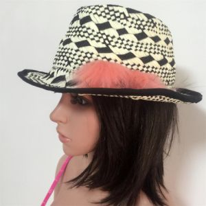100% Straw Hat, Fashion Floppy Style with Printing Pattern Style pictures & photos