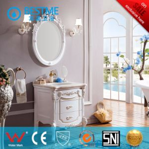 Modern Single Ceramic Sink Wooden Bathroom Cabinet (BF-8065) pictures & photos