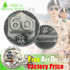 Custom Metal Souvenir/Plastic/Military/Trolley/Token/Police/Double/24k 3D Gold/Silver/Challenge Coin Maker No Minimum pictures & photos