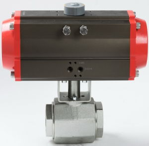 High Pressure Pneumatic Actuator Control Hydraulic Ball Valve pictures & photos
