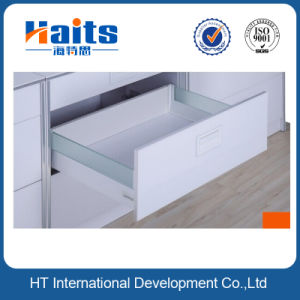 Luxury Metal Box System with Glass and Soft Close Concealed Drawer Slides pictures & photos