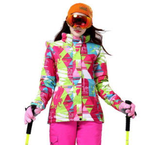 Wonem Ski Jacket Outdoor Ski Clothing Windproof Warm Ski Suit pictures & photos