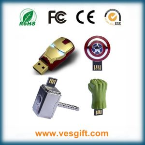 Iron Man Pendrive Metal Mini USB Memory Stick pictures & photos