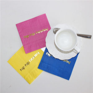 New Design Hot Stamp Gold Paper Napkin pictures & photos
