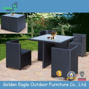 Rattan Funriture Garden Dining Set with Aluminum Tube