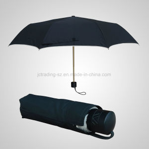 High Quality 3 Fold Manual Aluminium Lady Umbrella Rain/Sun Windproof Umbrella (JF-MMO302) pictures & photos