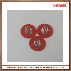 Chrome Color Logo Beatiful Promotional Plastic Tokens pictures & photos