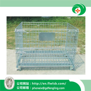 Foldable Storage Roll Cage for Supermarket with Ce (FL-51) pictures & photos