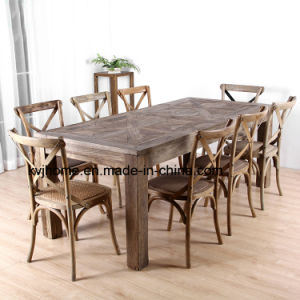 Reclaimed Wood Furniture Vintage Antique Rustic Banquet Table pictures & photos
