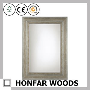 Modern Black Wooden Bath Mirror Frame for Hotel Toilet pictures & photos