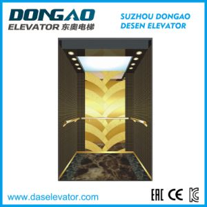 Passenger Elevator with Tatinum Etching Stainless Steel pictures & photos