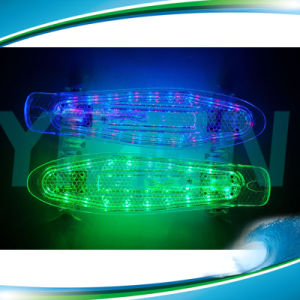 LED Light Skateboard Plastic PC Material Penny Skateboard pictures & photos