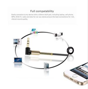 Spring Aux Cable 3.5mm Earphone Jack Elbow Designed Durable Cable pictures & photos