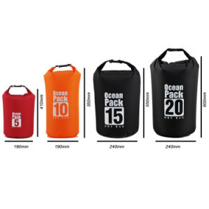 New Design Custom Logo Lightweight Waterproof Nylon Dry Bag pictures & photos