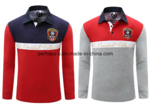 Wholesale High Quality Embroidery Men ′s Long Sleeve Polo Shirt pictures & photos