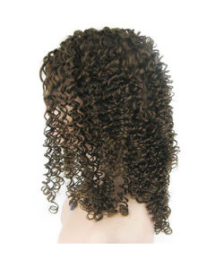 "18"" 4# Jerry Curl Lace Front Wig pictures & photos"