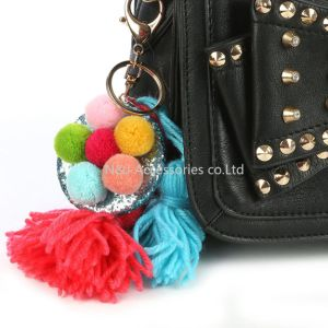 Tassels Badge Bag Accessory Key Chain for Women Jewelry Gift pictures & photos